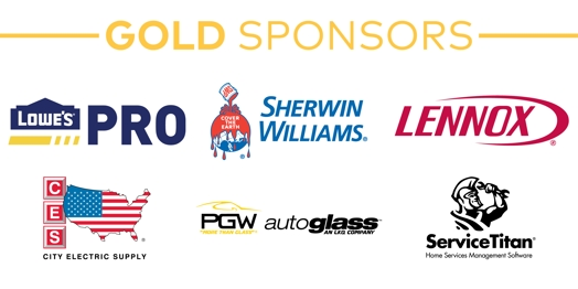 Gold: Lowe's, Sherwin Williams, Lennox, City Electric,  PGW, & ServiceTitan